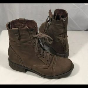Cobb Hill Brown Soft Leather Lace Hipster Boots 9M